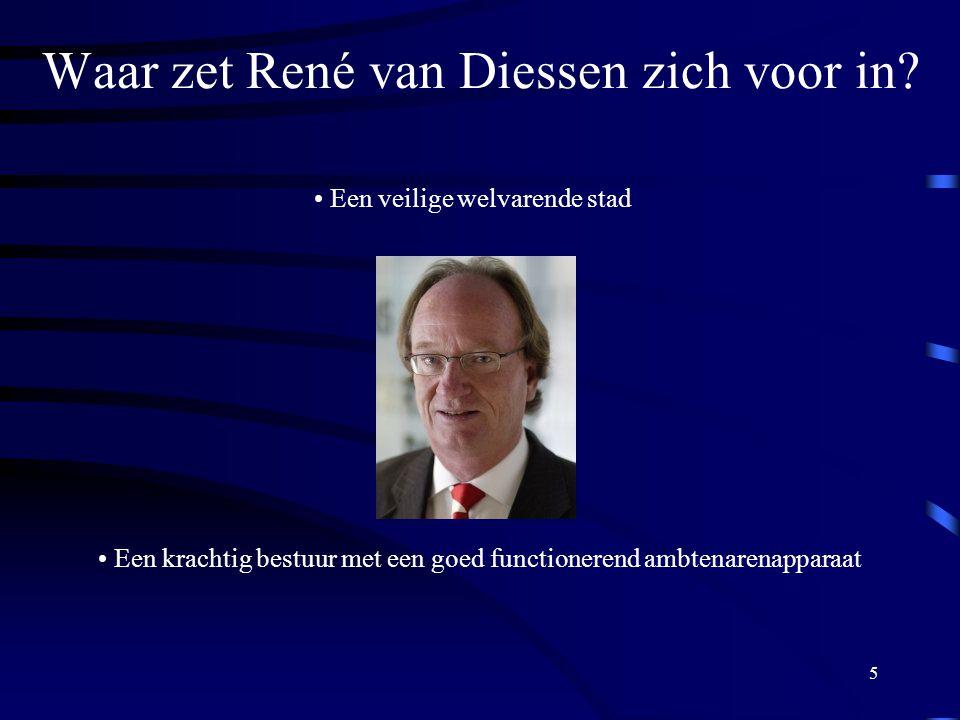 5 Waar zet René van Diessen zich voor in.