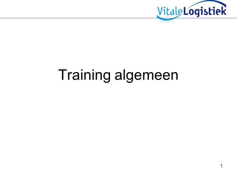 1 Training algemeen