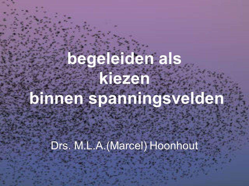 begeleiden als kiezen binnen spanningsvelden Drs. M.L.A.(Marcel) Hoonhout