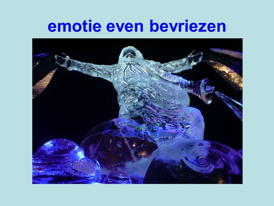 emotie even bevriezen