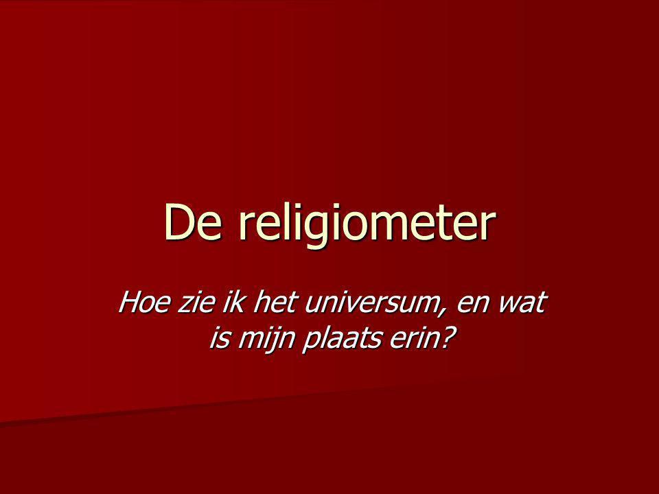 De religiometer Hoe zie ik het universum, en wat is mijn plaats erin?