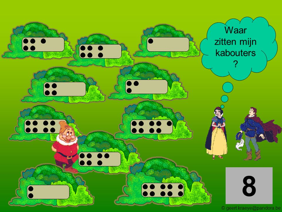9 Waar zitten mijn kabouters ? © geert.kraeye@pandora.be