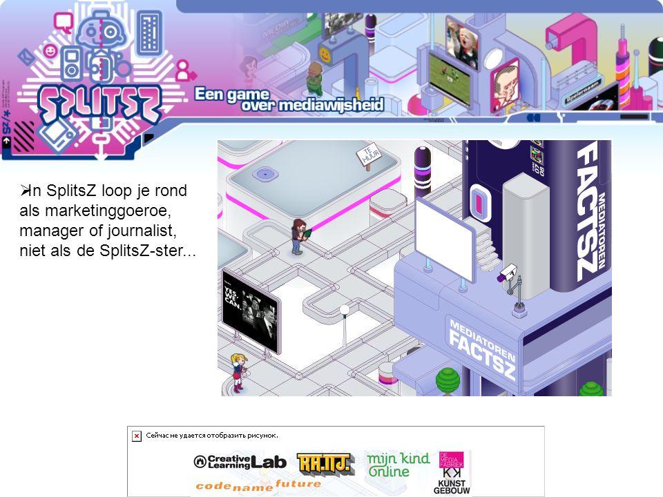 >> SplitsZ – level 1 1.Inloggen 2.Tabblad School 3.SplitsZ – Workspace Level 1 www.codenamefuture.nl