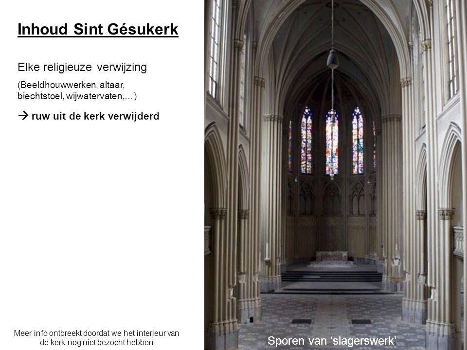 Typische inhoud kerk Kruiskerk: 1) Koor: ruimte waar zich hoofdaltaar bevindt, meestal gericht naar oosten 2) Schip: langgerekte ruimte die overgaat in koor 3) Kruisbeuk 12 3