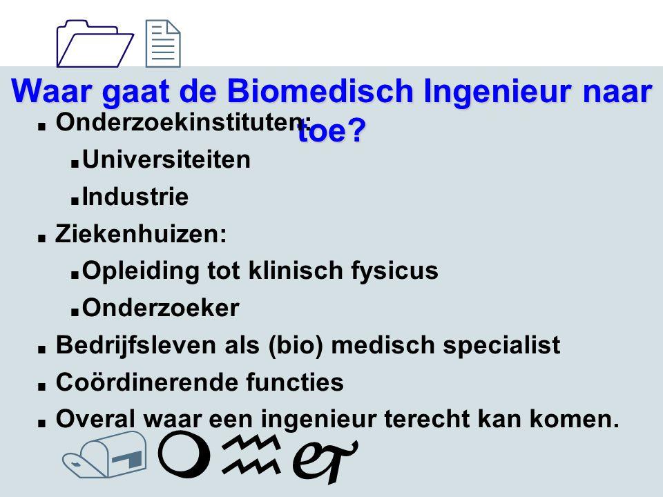 1212 /mhj Waar gaat de Biomedisch Ingenieur naar toe.