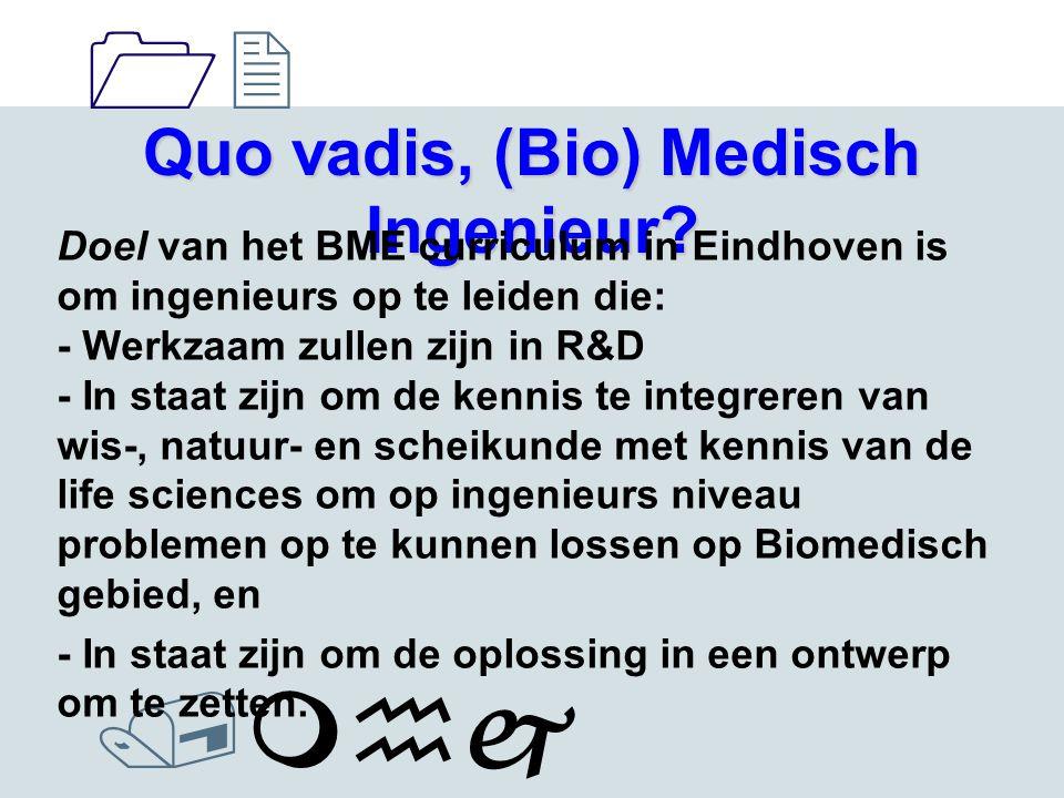 1212 /mhj Quo vadis, (Bio) Medisch Ingenieur.