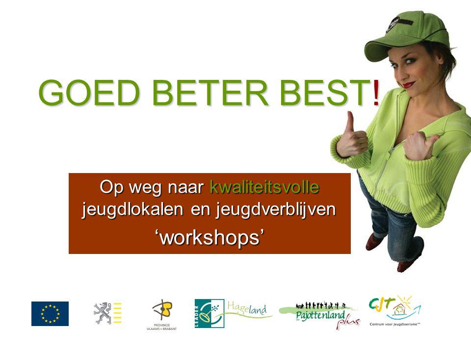 GOED BETER BEST! Op weg naar kwaliteitsvolle jeugdlokalen en jeugdverblijven 'workshops'