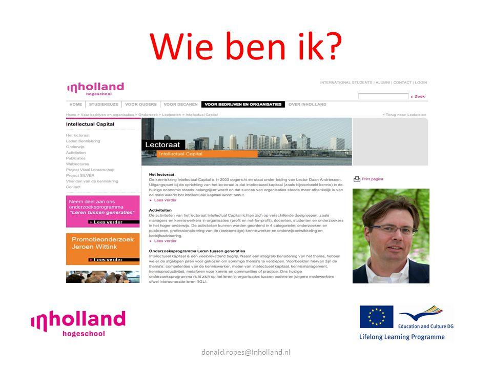 donald.ropes@inholland.nl Wie ben ik
