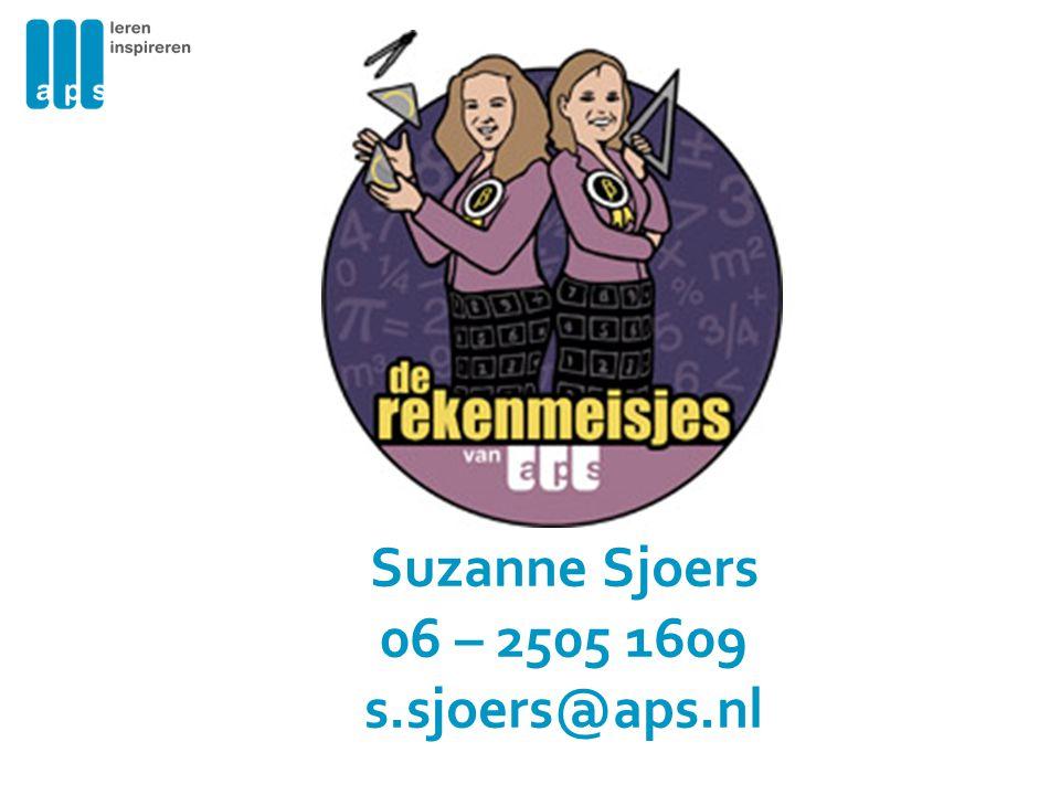 Suzanne Sjoers 06 – 2505 1609 s.sjoers@aps.nl