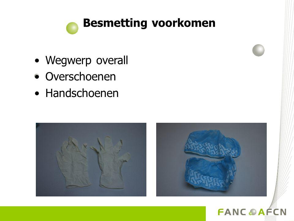 Besmetting voorkomen Wegwerp overall Overschoenen Handschoenen