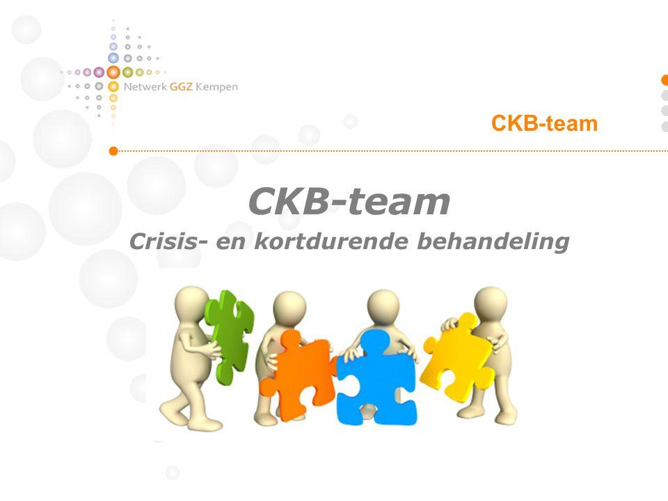 CKB-team Crisis- en kortdurende behandeling CKB-team