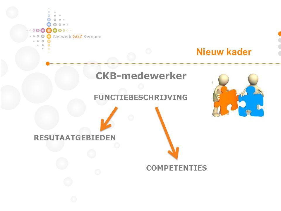 CKB-medewerker FUNCTIEBESCHRIJVING RESUTAATGEBIEDEN COMPETENTIES Nieuw kader