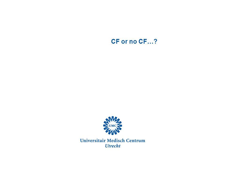 CF or no CF…?