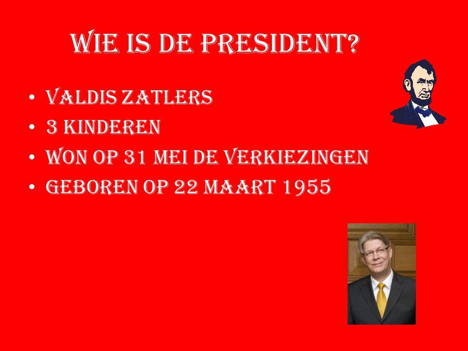 Wie is de president.