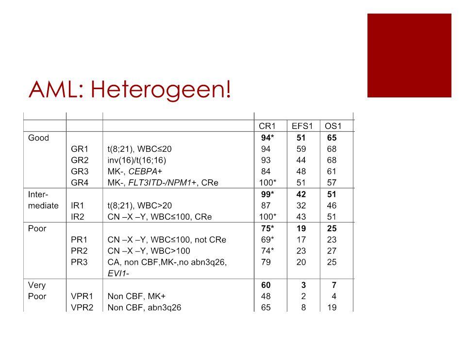 AML: Heterogeen!