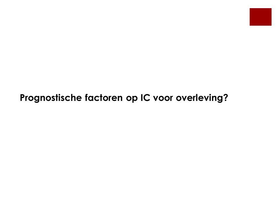 Prognostische factoren op IC voor overleving?