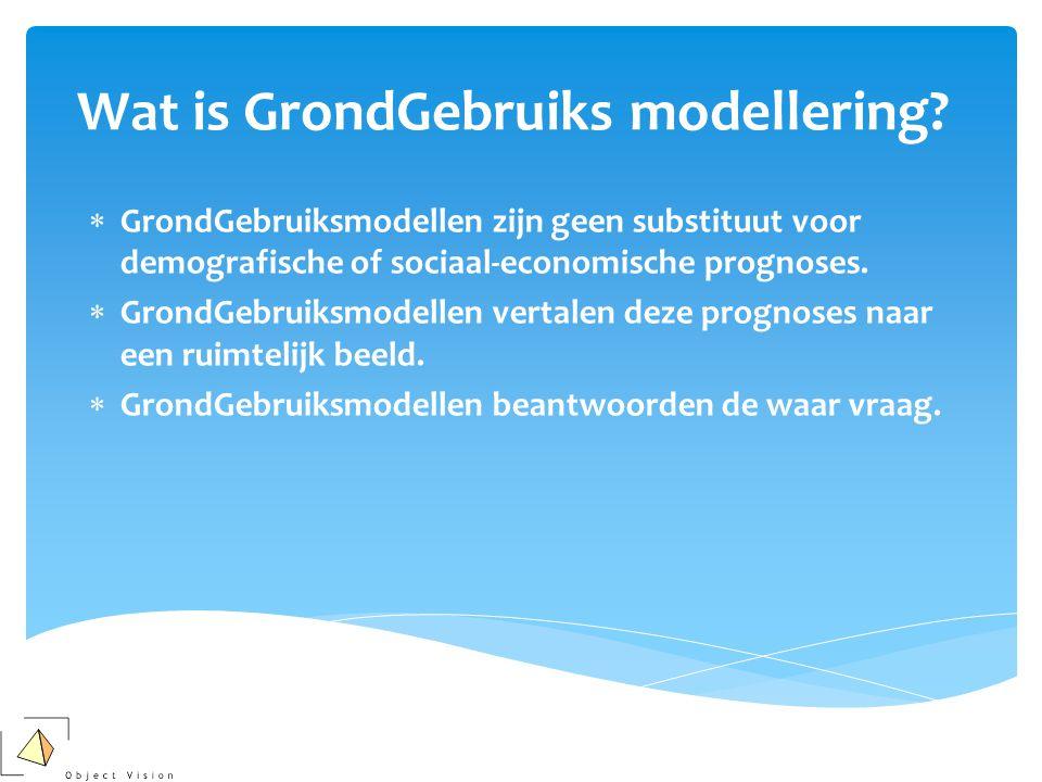  GrondGebruiksmodellen zijn geen substituut voor demografische of sociaal-economische prognoses.
