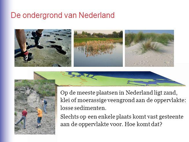 Op de meeste plaatsen in Nederland ligt zand, klei of moerassige veengrond aan de oppervlakte: losse sedimenten. Slechts op een enkele plaats komt vas