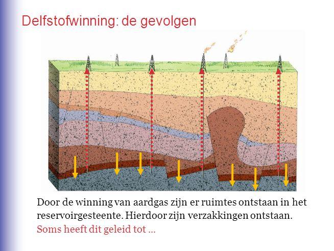 Door de winning van aardgas zijn er ruimtes ontstaan in het reservoirgesteente. Hierdoor zijn verzakkingen ontstaan. Soms heeft dit geleid tot...