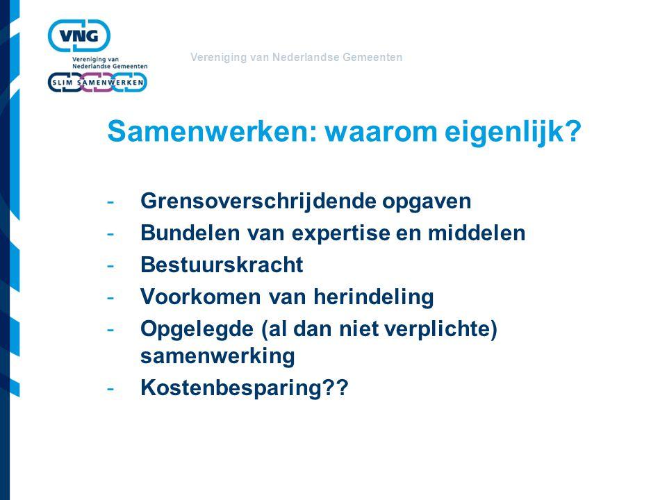 Vereniging van Nederlandse Gemeenten Samenwerken: waarom eigenlijk.