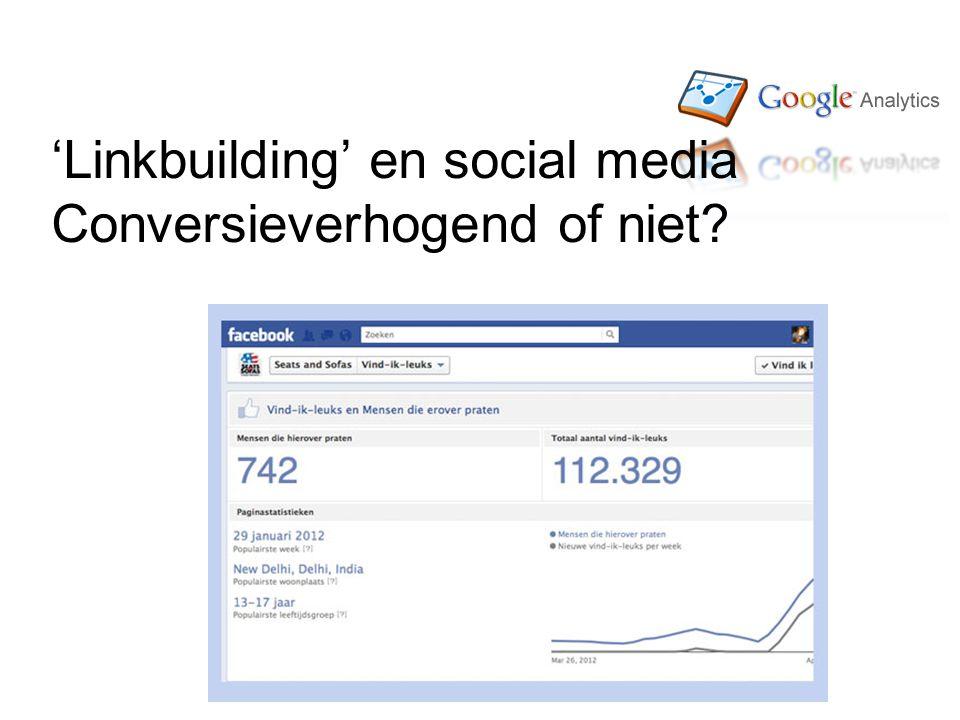 'Linkbuilding' en social media Conversieverhogend of niet