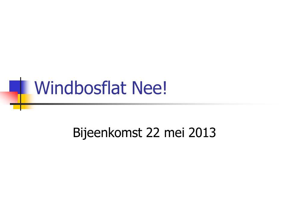 Windbosflat Nee! Bijeenkomst 22 mei 2013