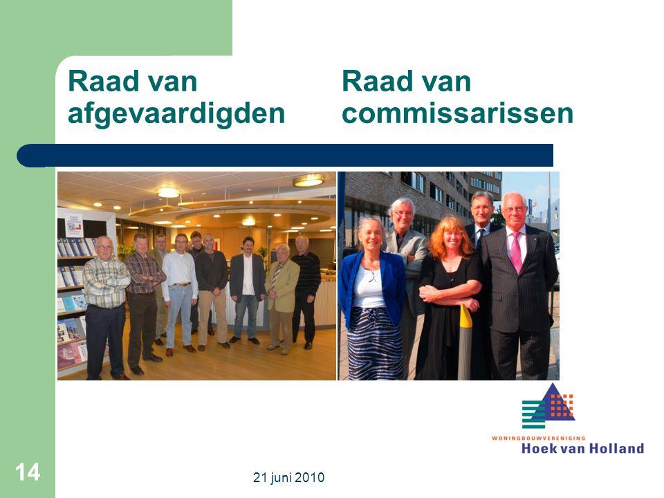Raad van Raad van afgevaardigden commissarissen 21 juni 2010 14