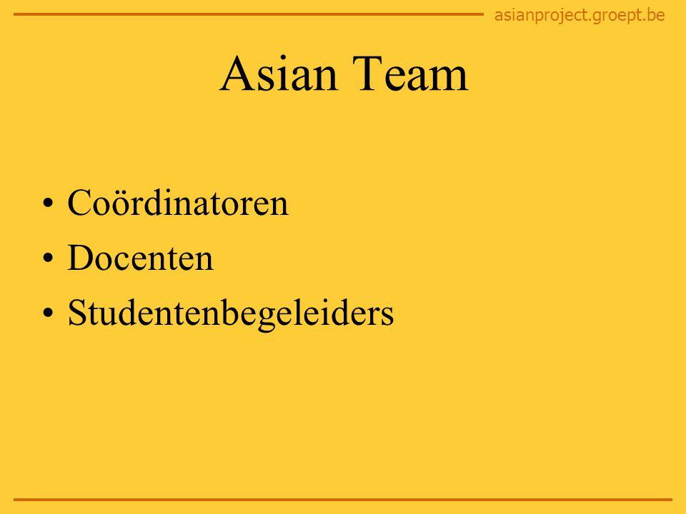 asianproject.groept.be Vragen? http://asianproject.groept.be asianproject@groept.be