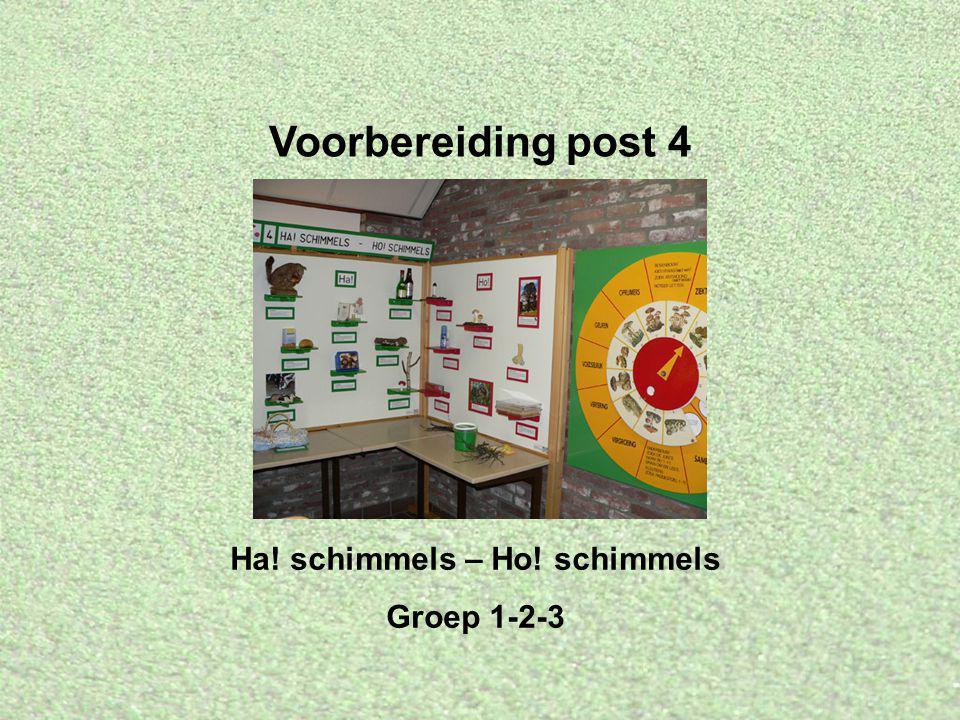 Voorbereiding post 4 Ha! schimmels – Ho! schimmels Groep 1-2-3