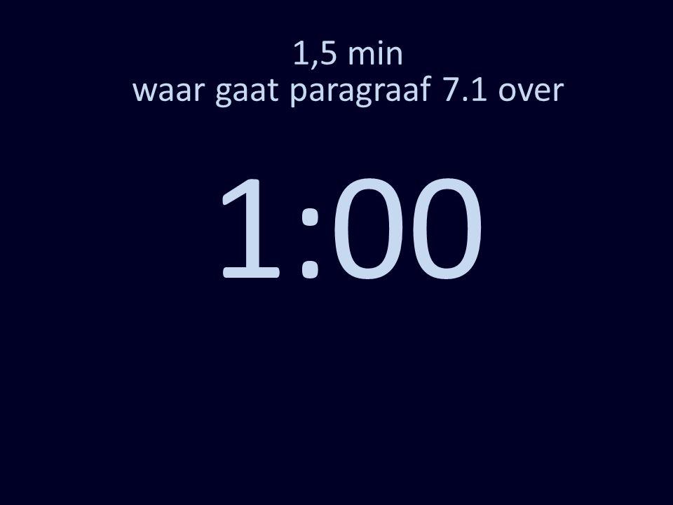 1,5 min waar gaat paragraaf 7.1 over 1:00