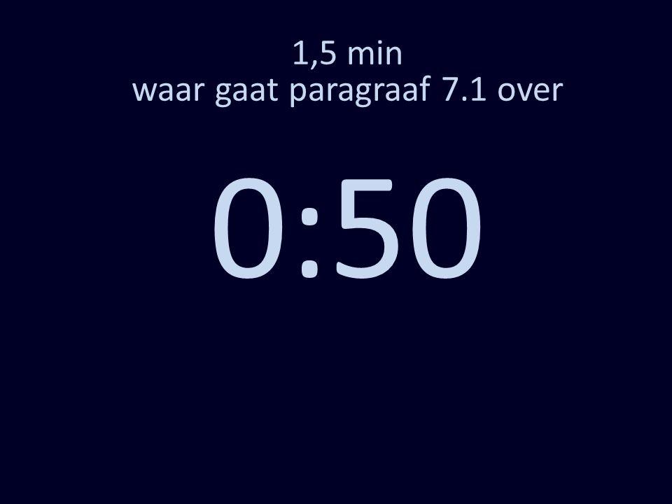 1,5 min waar gaat paragraaf 7.1 over 0:50