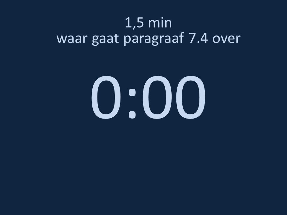 1,5 min waar gaat paragraaf 7.4 over 0:00