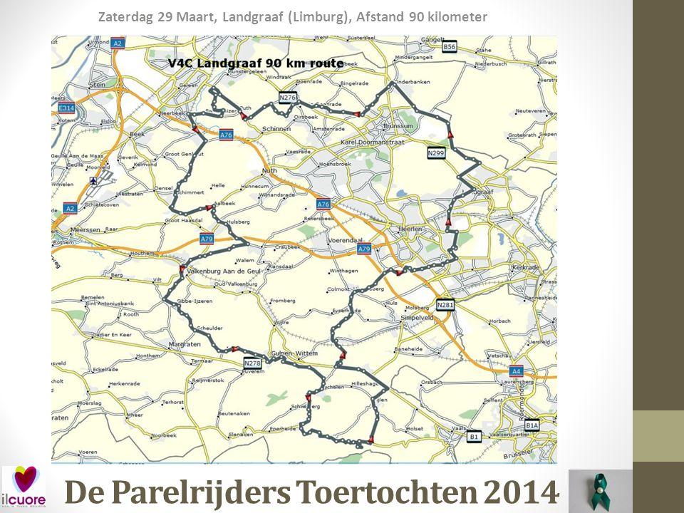 De Parelrijders Toertochten 2014 Zaterdag 29 Maart, Landgraaf (Limburg), Afstand 90 kilometer tijdens deze toertocht krijg je, afhankelijk van de gekozen afstand, de kans om de volgende heuvels te bedwingen: HeuvelsGem.