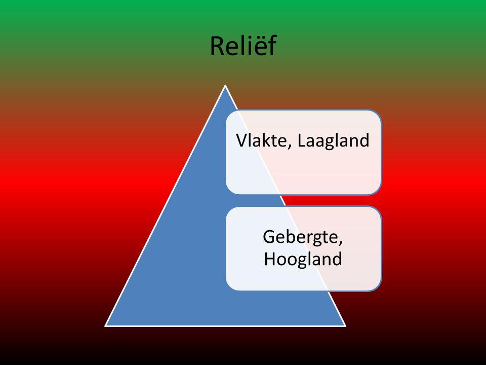 Reliëf Vlakte, LaaglandGebergte, Hoogland