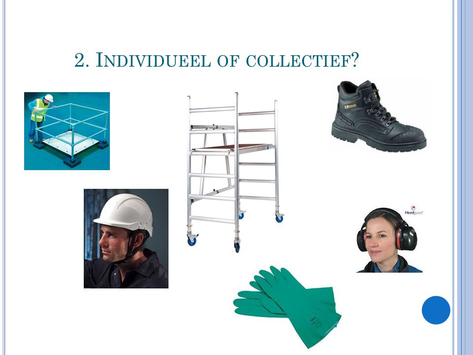 2. I NDIVIDUEEL OF COLLECTIEF ?