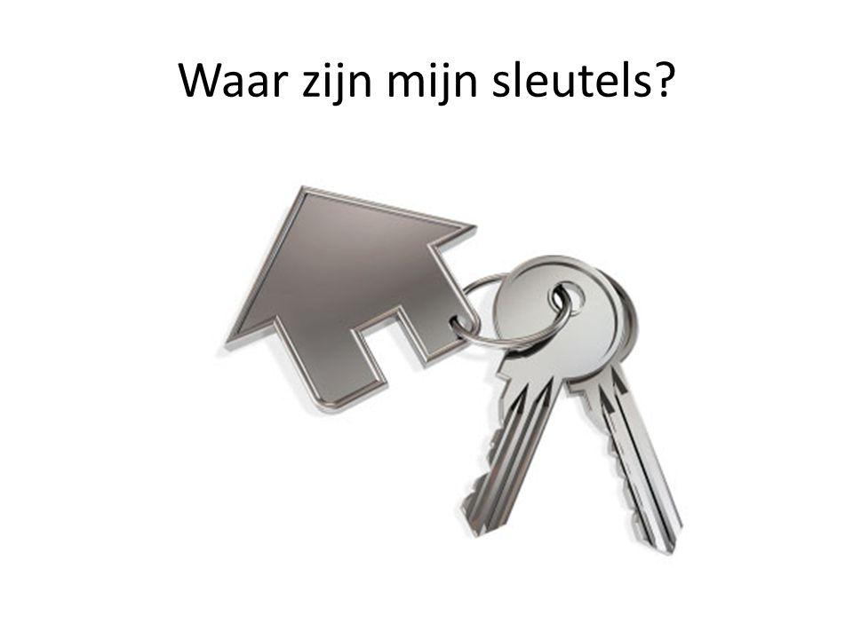 Waar zijn mijn sleutels?