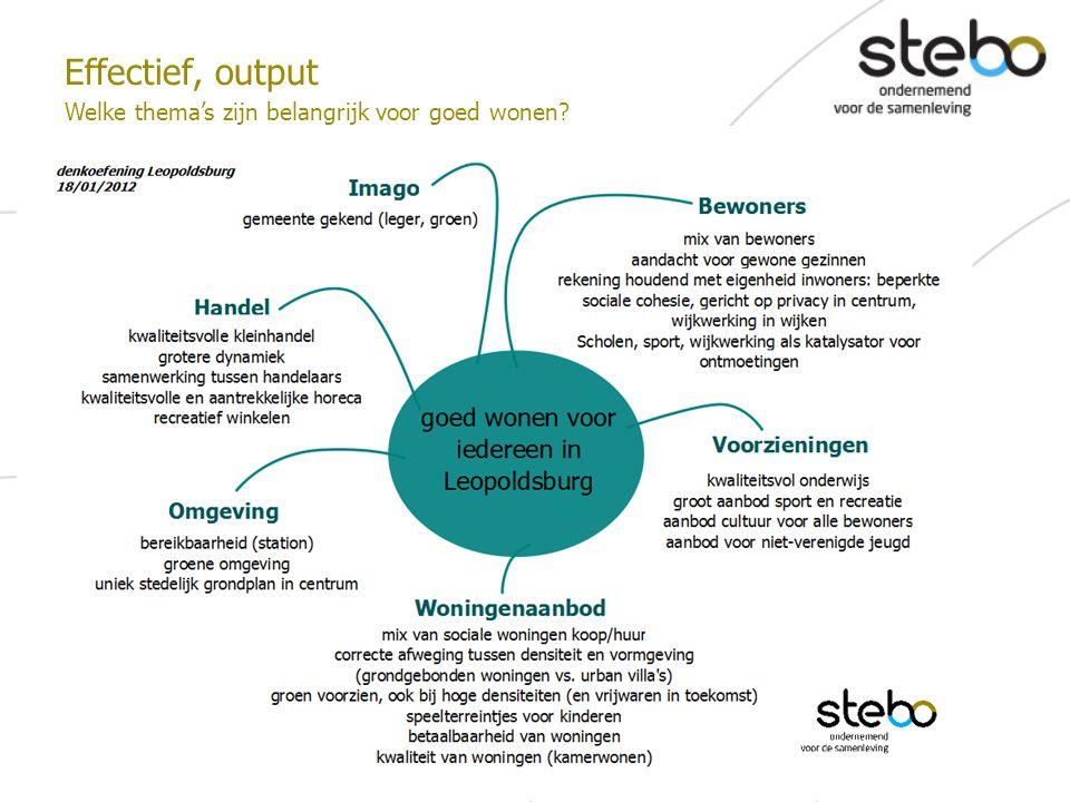 Effectief, output Welke thema's zijn belangrijk voor goed wonen?
