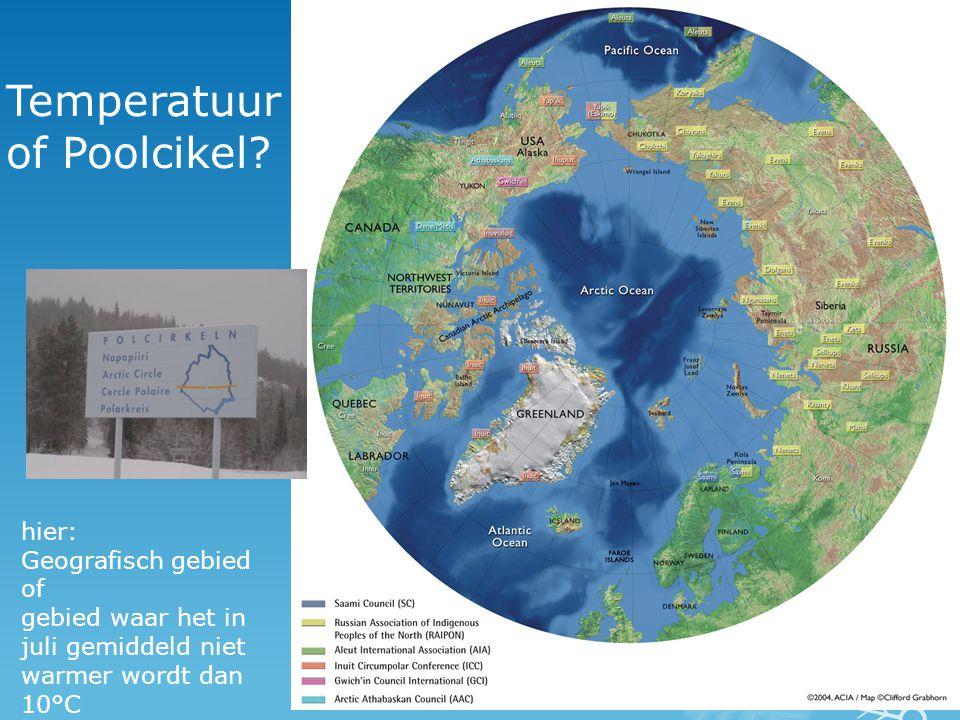 opvallend kenmerk van arctisch gebied  geen bomen  Alleen in beschutte gebieden, tegen zuidelijke helling van bergen  kleine boompjes.