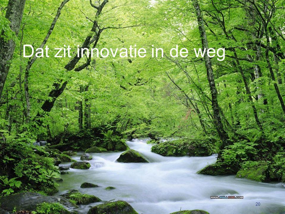 Dat zit innovatie in de weg 20