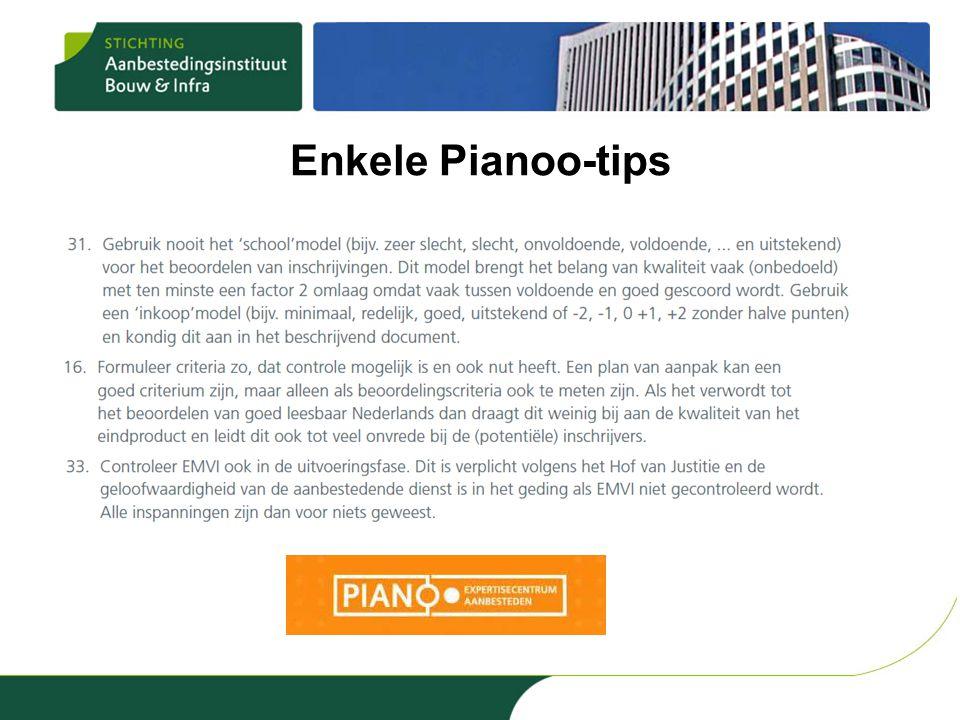 Enkele Pianoo-tips