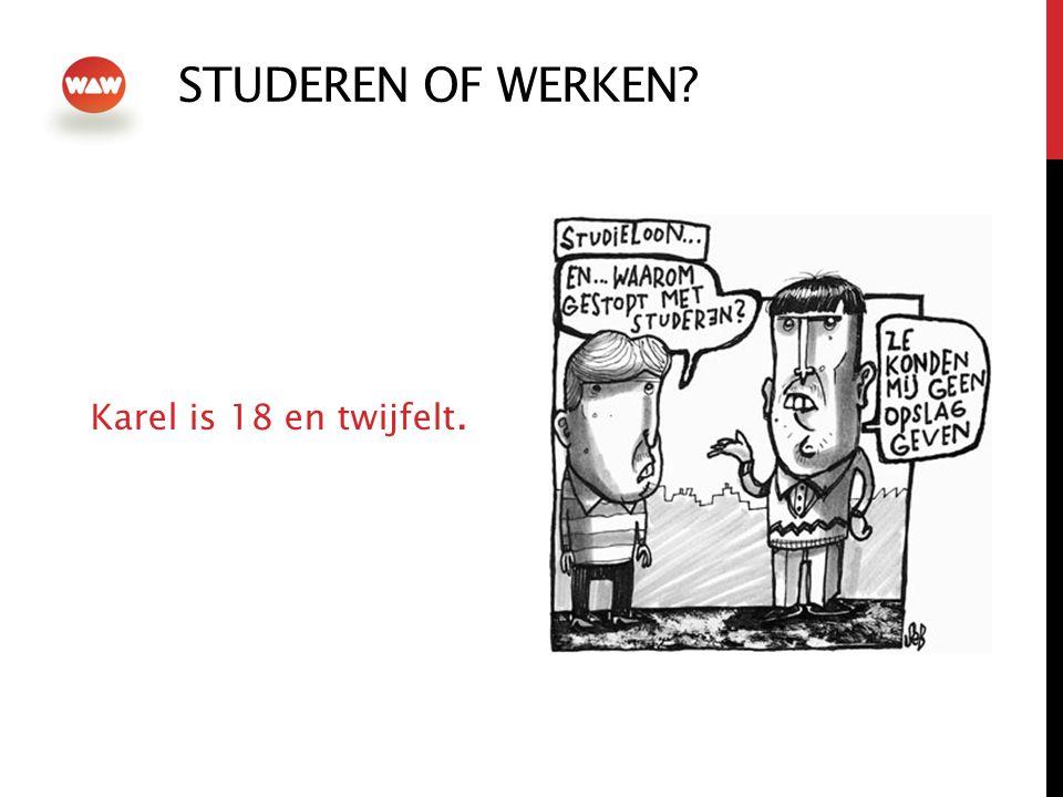 STUDEREN OF WERKEN? Karel is 18 en twijfelt.