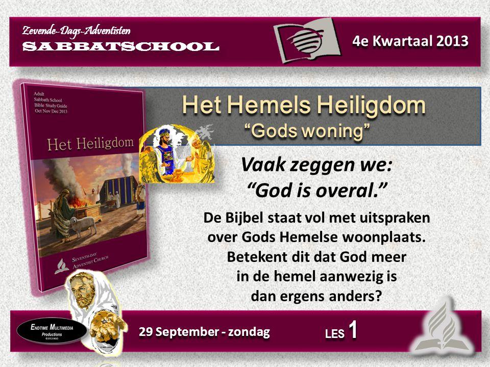 Lees: Psalm 47:6–9; 93:1, 2; 103:19.Wat beschrijven deze teksten over God en Zijn troon.