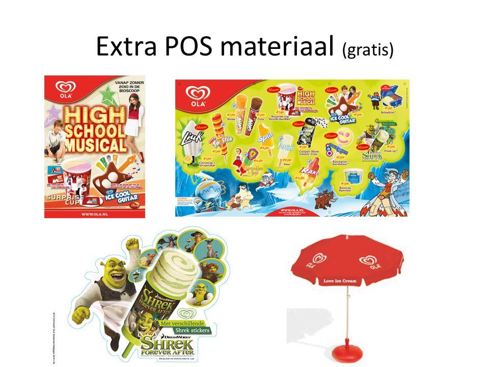 Extra POS materiaal (gratis)