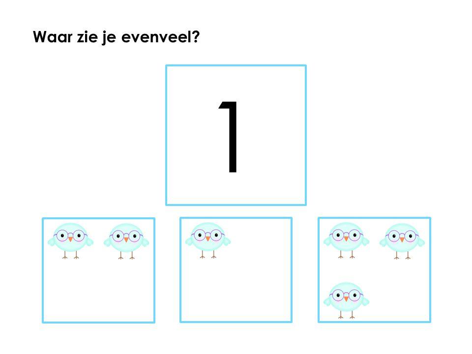 5 Waar zie je evenveel?