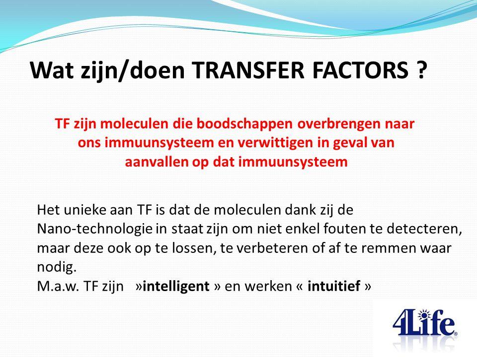 Wat zijn/doen TRANSFER FACTORS .