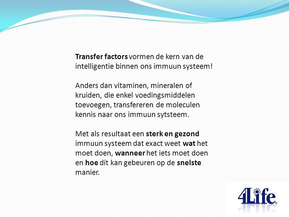 Transfer factors vormen de kern van de intelligentie binnen ons immuun systeem.