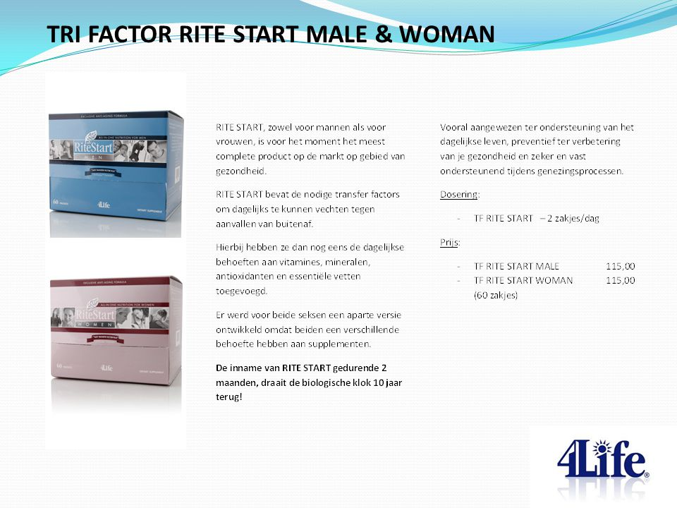 TRI FACTOR RITE START MALE & WOMAN