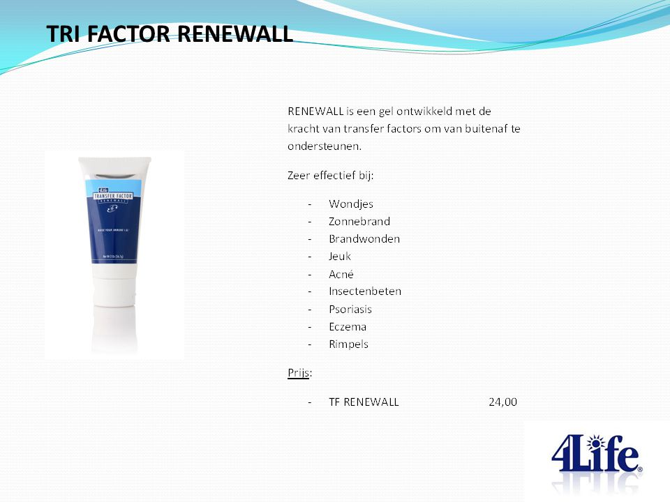 TRI FACTOR RENEWALL