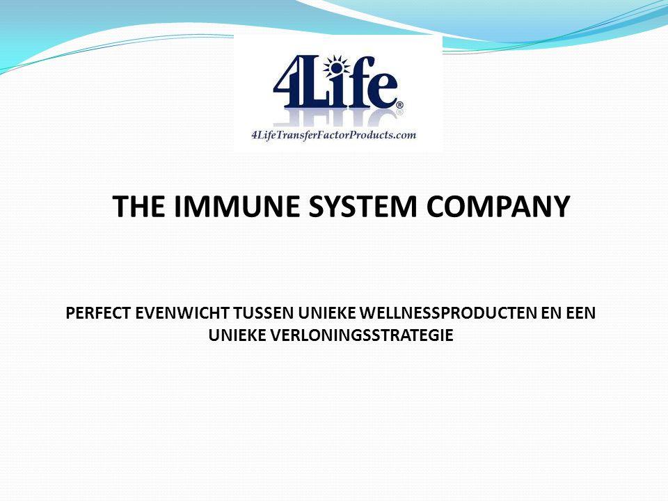 THE IMMUNE SYSTEM COMPANY PERFECT EVENWICHT TUSSEN UNIEKE WELLNESSPRODUCTEN EN EEN UNIEKE VERLONINGSSTRATEGIE