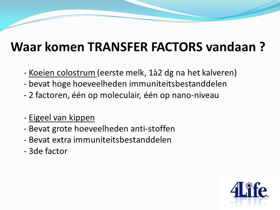 Waar komen TRANSFER FACTORS vandaan .
